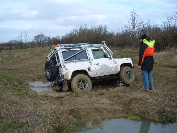 Jon gets stuck in the mud (Picture by Roger Taylor)