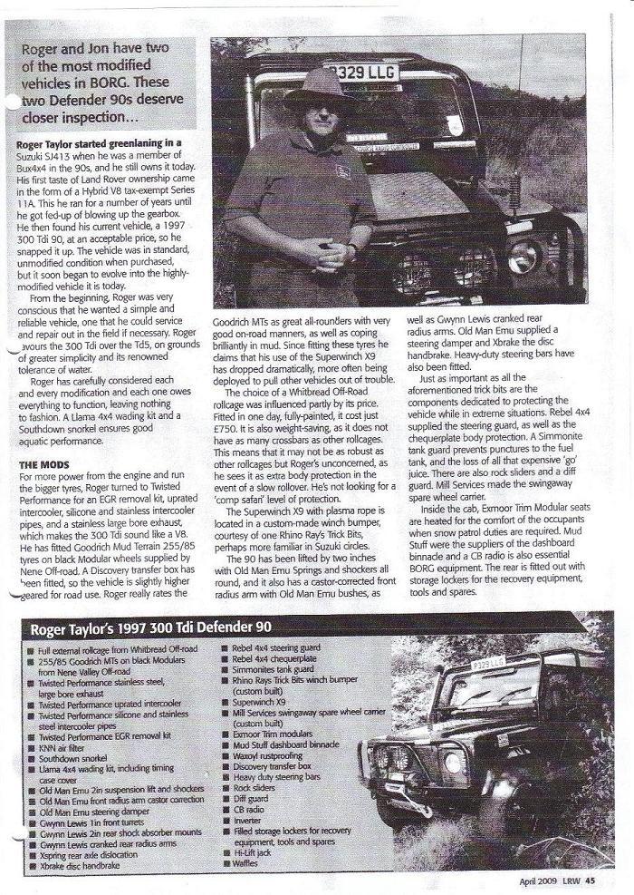LRW Page, April 2009