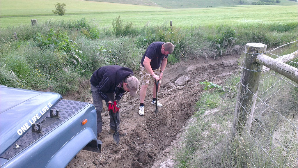 A spot of byway maintenance.